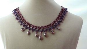 Netted Acorn Fall Necklace 2
