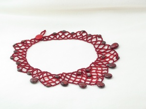 Ruby Picasso Netted Necklace