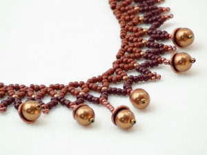 Netted Acorn Fall Necklace 1