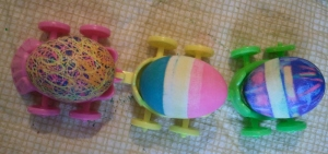 Scribble Egg, Dipped Egg, Rubber Band Egg