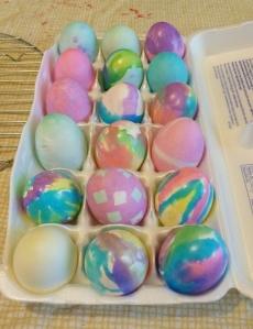 Finished Carton of Easter Eggs