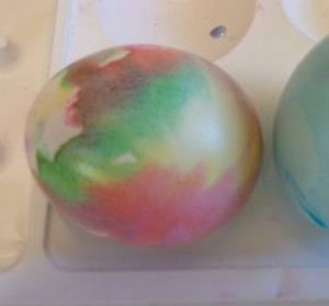 A Roller Dyed Easter Egg