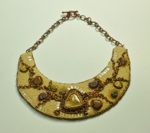 Ancient Ocean bead embroidery