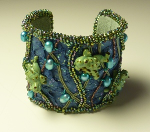 Frolicking Frogs cuff